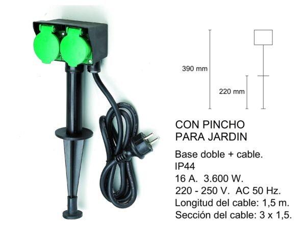PINCHO JARDIN CON BASE DOBLE