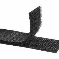 velcro negro 20mm gancho-rizo adhesivo