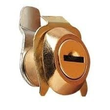 cerradura buzon leva recta c/pestaña dorada
