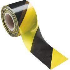 cinta señalizacion amarilla-negra 200mtrs