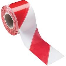 cinta señalizacion roja-blanca 200mtrs