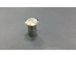 casquillo suelo con tapon guardapolvo 15mm cromo