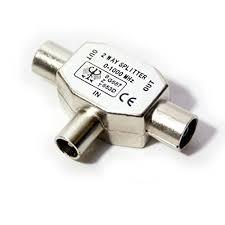 adaptador t antena h-m-m metalico
