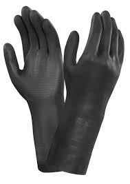 guante neopreno negro talla 9-l