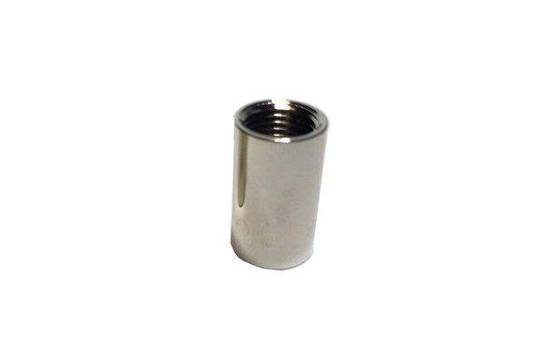 empalme rosca cilindrico 2cm 10/100 cromado