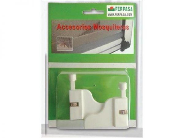juego retenedor mosquitera enrollable blanco