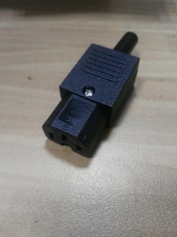 conector hembra iec 320 c15 desmontable
